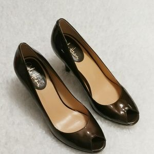 Cole Haan Patent Leather Peep Toes